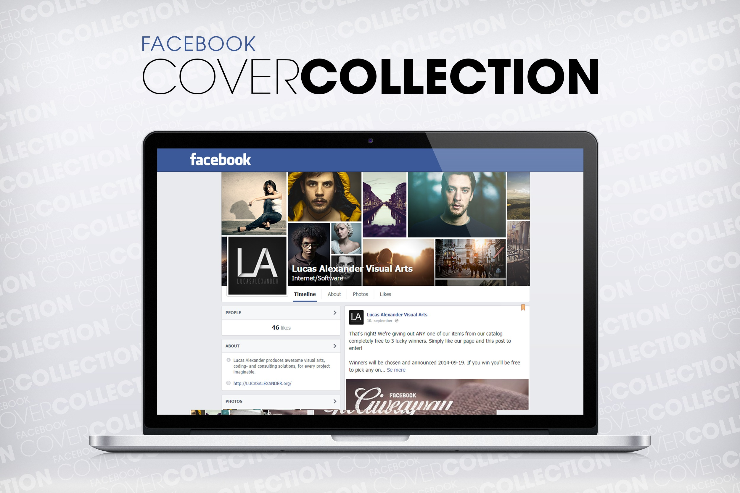 Facebook Cover Collection PSD Freebie by Lucas Alexander