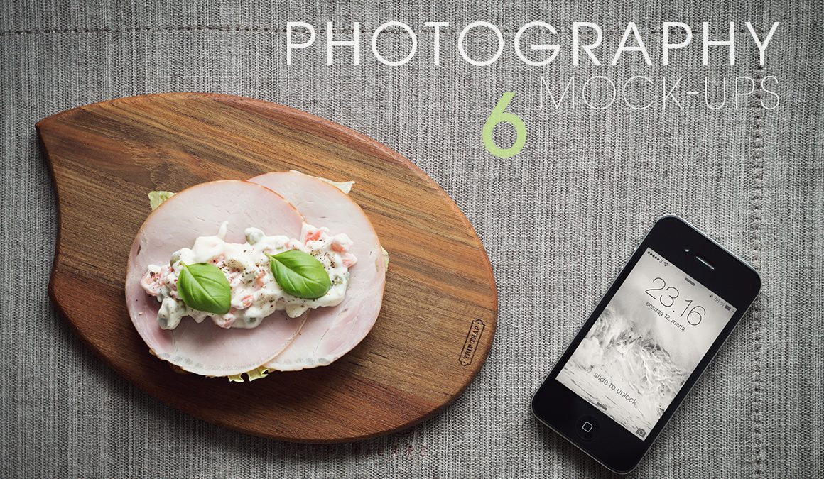 6 iPhone 4S Photography Mock-Ups