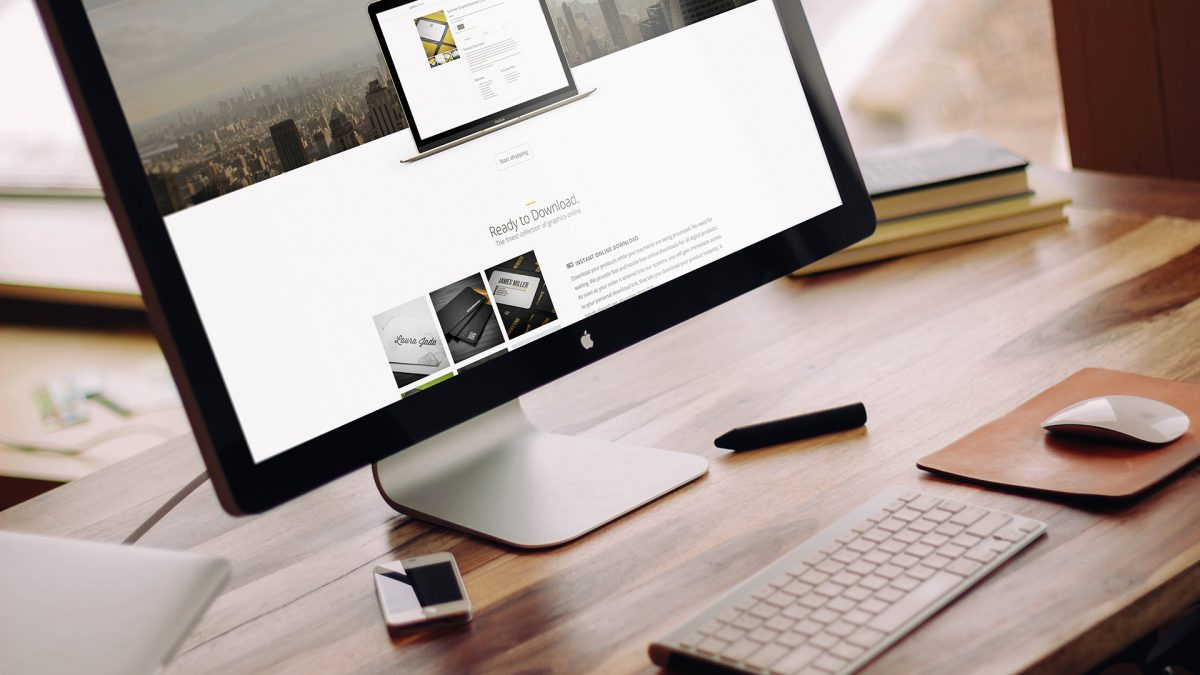 Apple iMac Mock-Up PSD Freebie